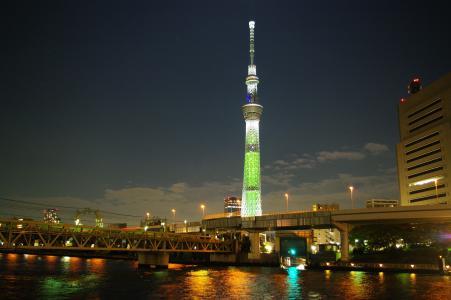 隅田川和天空树夜景照片