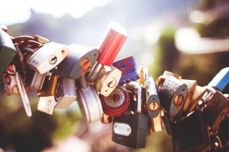 爱五颜六色的特写镜头锁