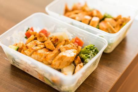 盒子饮食健身餐午餐烤鸡排