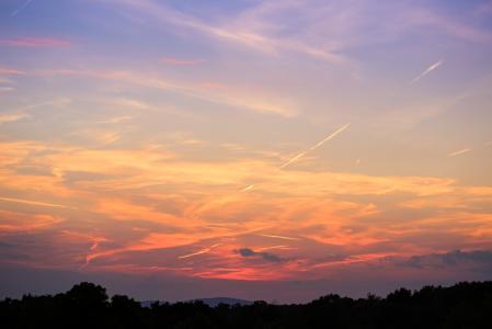 另一个美妙的夕阳的天空