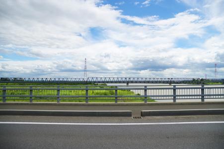 石狩河和蓝天免费图片