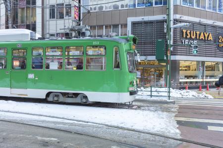 札幌市交通局250式电车(电车)(有轨电车)免费照片