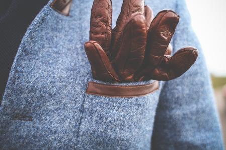 绅士的驾驶皮手套