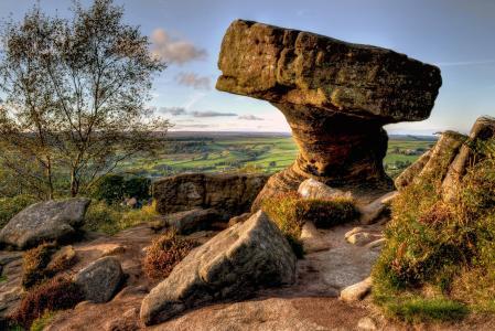 英国地理公园的高清美景