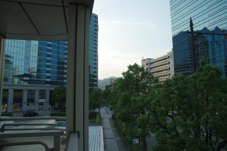 免费的照片在神户站前的港湾地区