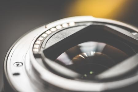外露变焦相机镜头电子产品后侧