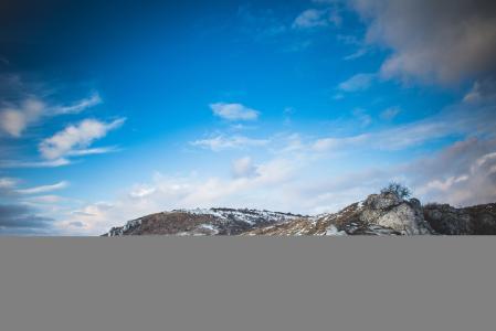 捷克山在冬天