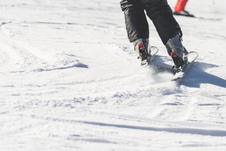 滑雪和滑雪关闭