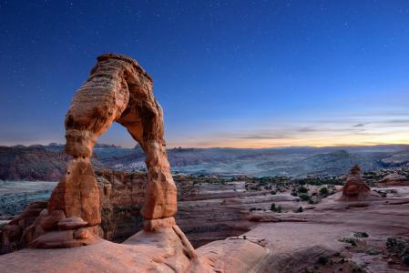 日落沙漠风光