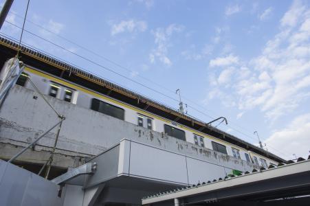 从船桥车站的总武线免费股票照片