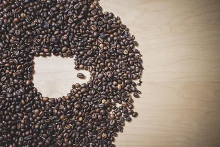 Coffee Cup Shape in Coffee Beans #2