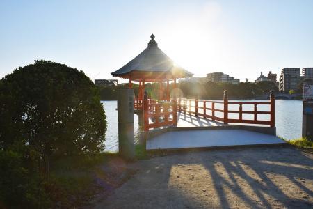 福冈大濠公园的Ukimido免费图片