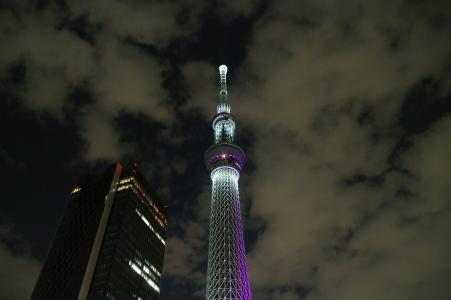 天空树夜景免费照片