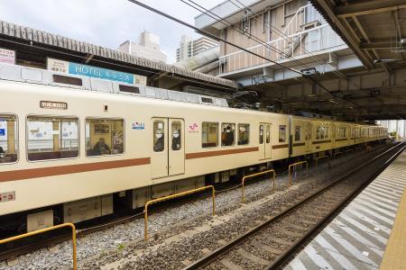 新京成电机8800型免费照片素材停在松户站