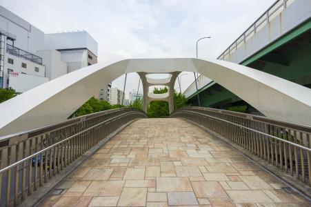 名古屋若宫大桥拱桥免费照片