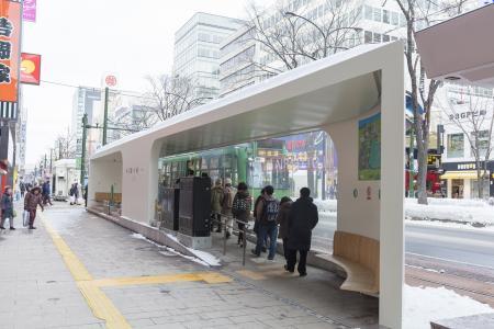 札幌电车(电车)站照片