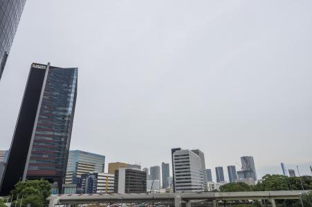 从汐留看到的市中心的免费股票照片