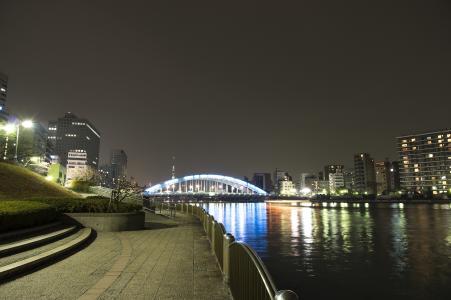 隅田川大阳台和永久桥免费股票照片