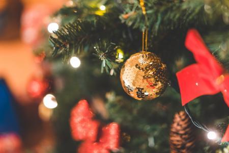 闪光装饰圣诞球